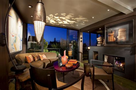 Living Room Lighting Solutions by San Francisco Residence Eclectic Living Room San