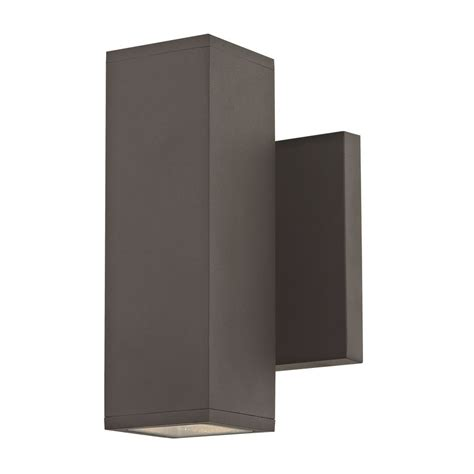 up down bronze cylinder outdoor wall light square cylinder outdoor wall light up down bronze 1774