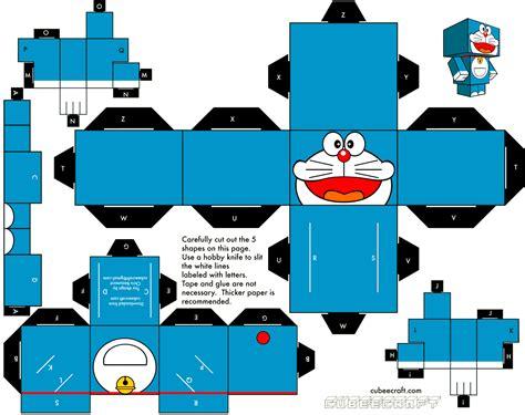 Papercraft 3d - doraemon cubeecraft 3d paper animation