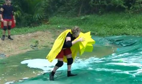 celebrity jungle tonight s trial i m a celeb contestants tackle the cyclone buchtucker