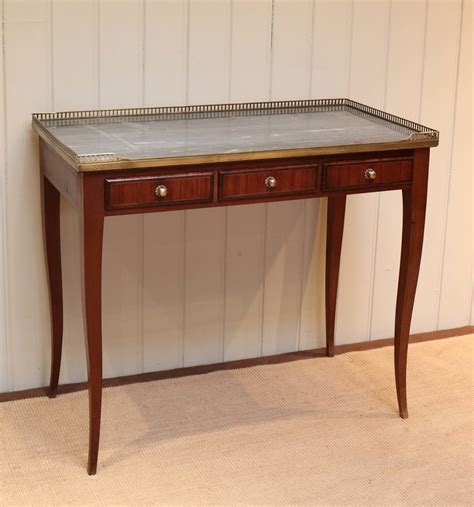 french mahogany marble top desk antiques atlas
