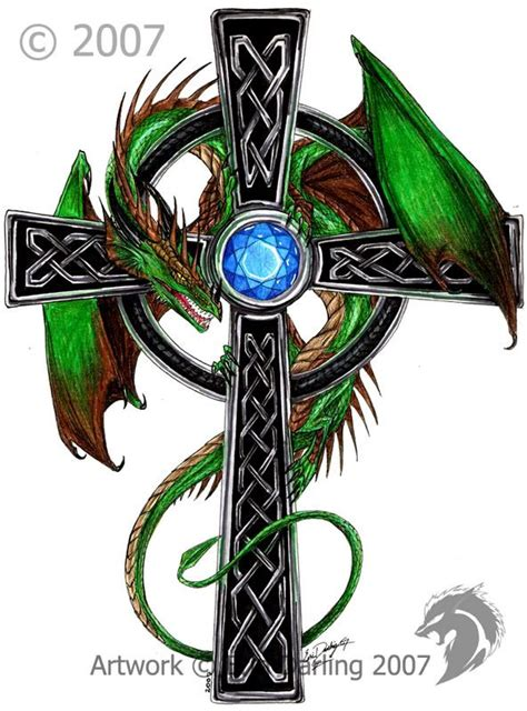 dragon cross tattoo designs celtic celtic cross by hybridgeist on