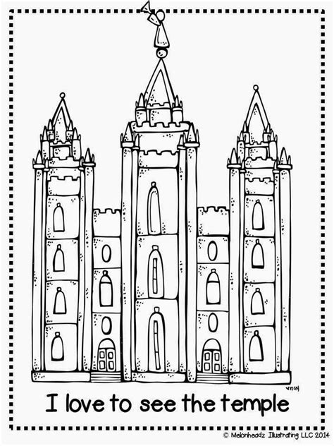 lds coloring pages families can be together forever melonheadz lds illustrating i love to see the temple
