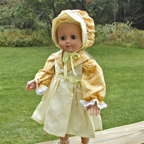 old fashioned doll houses old fashioned doll dress and bonnet by mimirob on zibbet