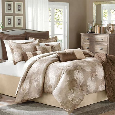 tan bedding set avenue 8 sloane 9 piece queen comforter set brown tan