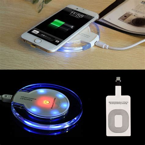 universal qi wireless charger power charging receiver kit for iphone 7 7plus 6 ebay