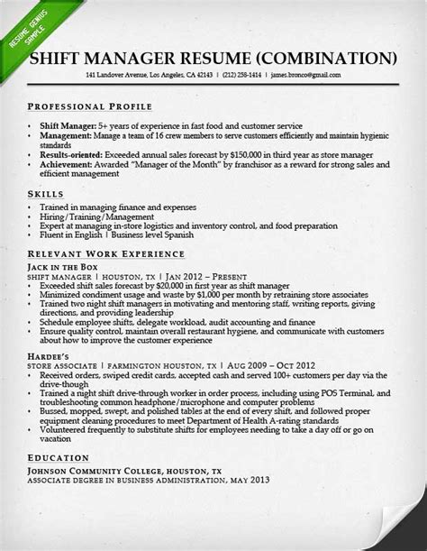 Combination Resume Samples & Writing Guide   RG