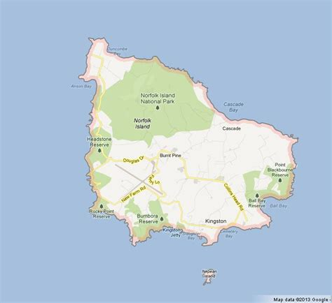 map  norfolk island