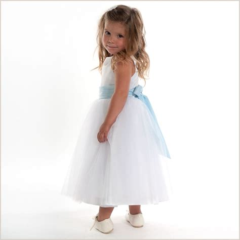 Vianna Dress White flower dress vienna white tulle dress with light blue
