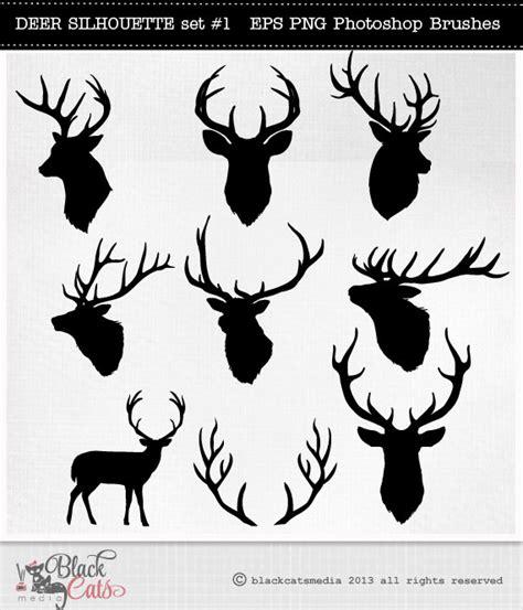 geweih le deer silhouettes reindeer antlers clipart deer