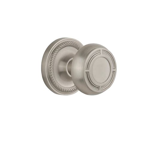 Satin Nickel Interior Door Knobs Nostalgic Warehouse Rope Rosette Interior Mortise Mission Door Knob In Satin Nickel 716817 The