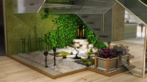 indoors garden how to make a small pebble garden under the stairs page