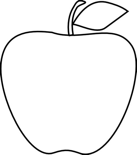Apple Outline Png by Apple Clip At Clker Vector Clip Royalty Free Domain
