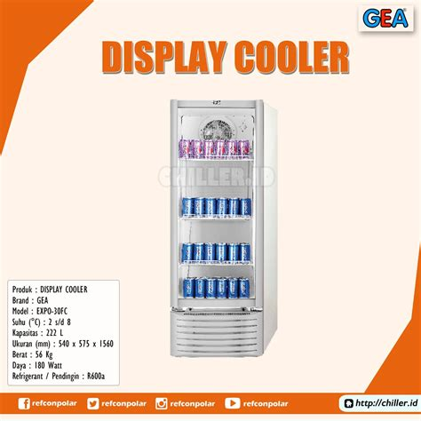 Showcase Gea Expo 1500ah jual expo 30fc display cooler brand gea harga murah di