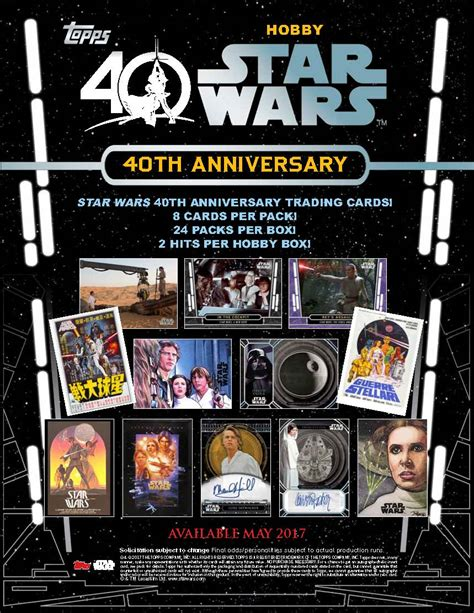 star wars anniversary 2017 topps star wars 40th anniversary trading cards