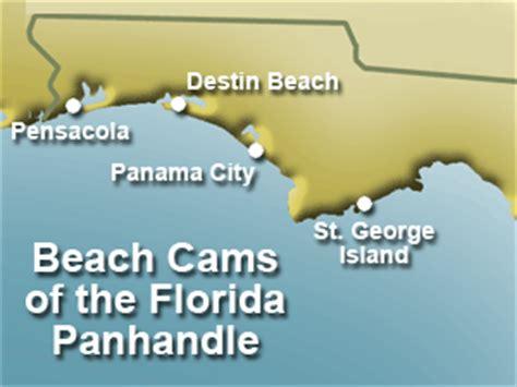 map florida panhandle beaches cams florida panhandle panama city pensacola