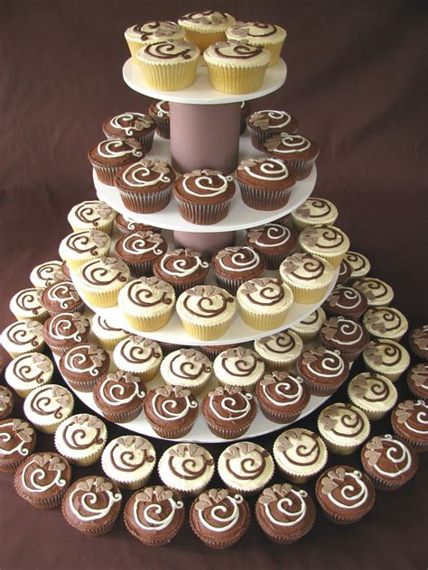 Wedding Cake With Cupcakes by Chocolate Wedding Cupcakes Recipes Dishmaps