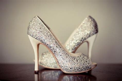 silver sparkly wedding shoes glitter bridal shoes