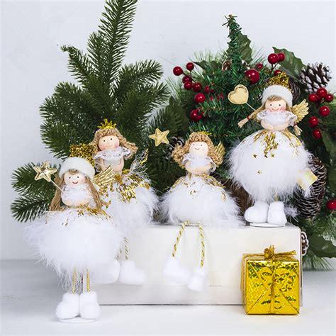 angel wings girl doll christmas decorations christmas tree pendant desk decor xmas  year