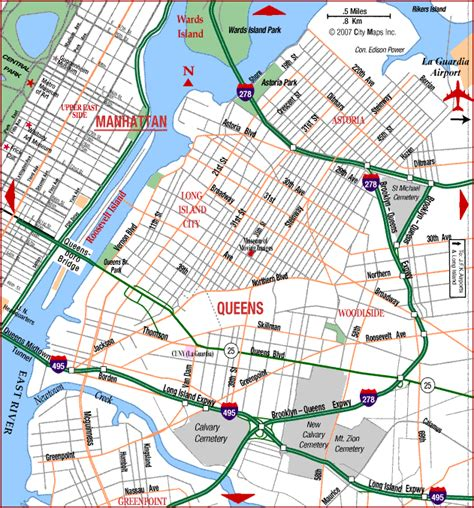 printable queens map map of elmhurst queens new york