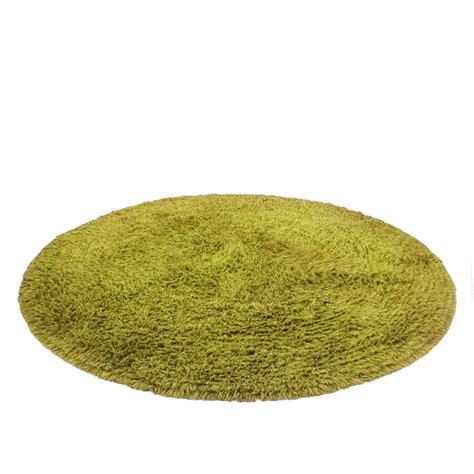 green circle rug shag carpet circle green formdecor