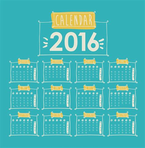 design calendar simple simple wall calendar 2016 design vectors set 05 vector