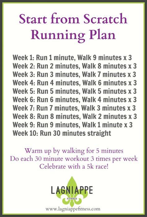 start from scratch running plan lagniappe fitness