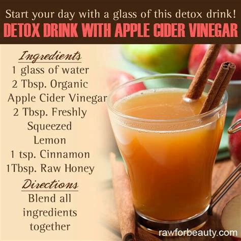 Apple Cider Vinegar And Detox For Kolonopin by Apple Cider Vinegar Detox Recipes