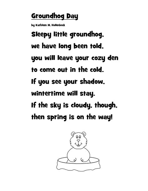 groundhog day poetry just 4 teachers across borders groundhog day