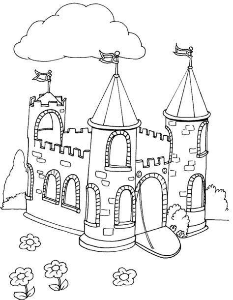 Coloring Pages Castle Castle Coloring Pages Coloringpages1001 Com