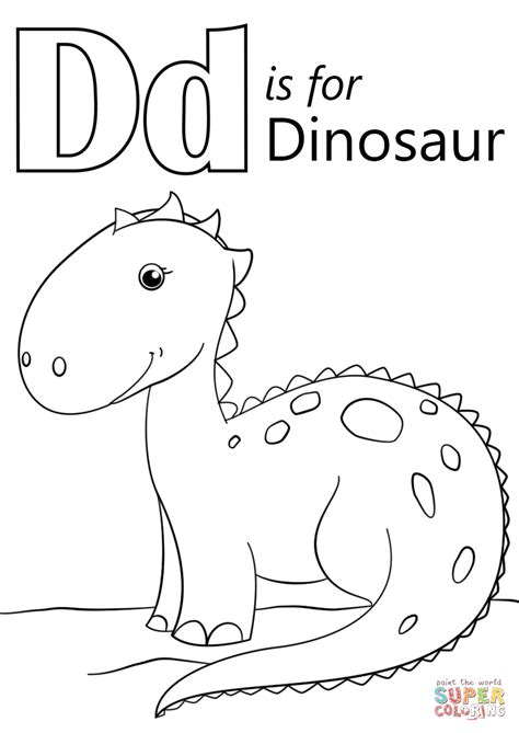 letter d dinosaur coloring page letter d is for dinosaur coloring page free printable