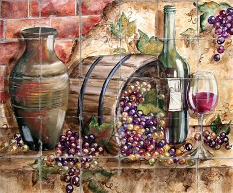 Tuscany Wall Murals kitchen accessories grapes home decoration club