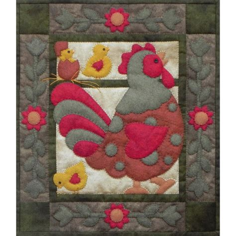 Applique Quilt Kits by Spotty Rooster Wall Quilt Kit Applique Quilt Kits At