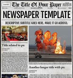 adobe illustrator newspaper template 10 best images of adobe newspaper template free