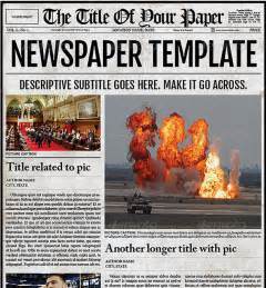 Newspaper Template by Newspaper Template Mobawallpaper