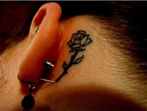 rose behind the ear tattoo 61 small tattoos designs for and
