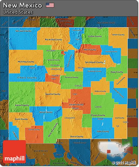 united states map new mexico free political map of new mexico darken