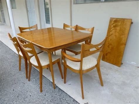 heywood wakefield dining room set mid century modern heywood wakefield 6 chair dining room