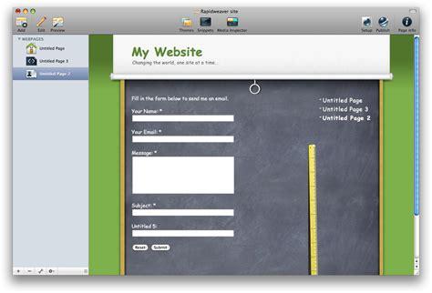 rapidweaver theme editor mac budget mac web design software page editors reality
