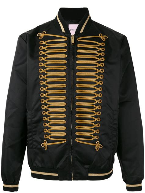 Palm Bomber Jacket palm embroidered bomber jacket in black for lyst