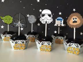 free shipping 12 star wars cupcake toppers star wars birthday party or baby shower
