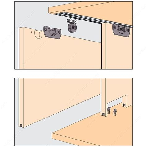 sliding cabinet door hardware hardware kit clipo 16 h is richelieu hardware