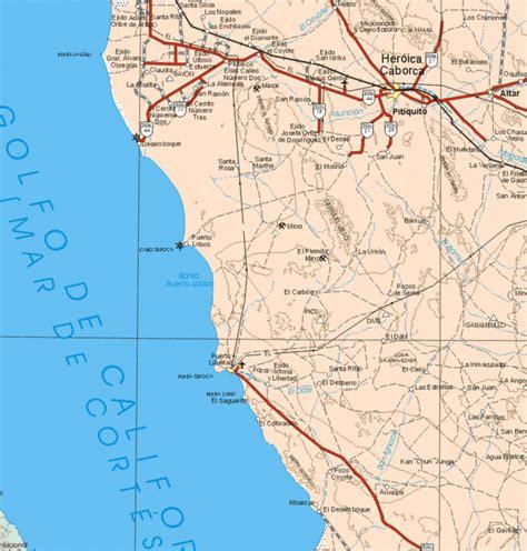 sonora map sonora mexico mapa