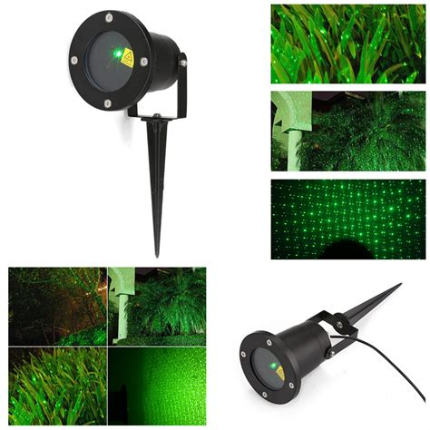 outdoor single green static starry laser projector lawn