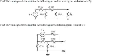 how to find resistance of resistor find thevenin equivalent circuit for the following chegg