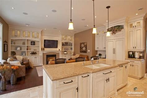 edgy kitchen design with family open concept kitchen living room home design idea