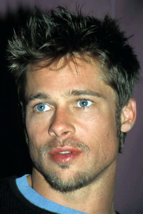brad pitt hair shade fight club brad pitt straight brown hair and blue eyes before he