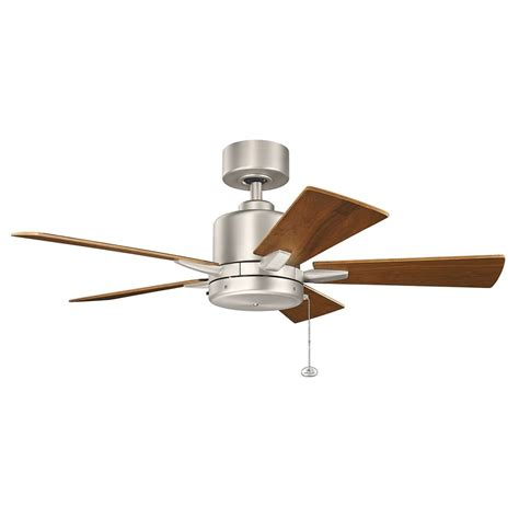 brushed nickel ceiling fan without light kichler lighting bowen brushed nickel ceiling fan without