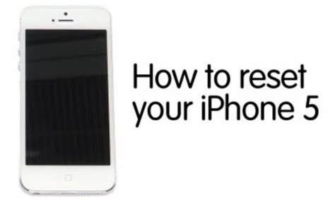 iphone factory reset how to reset an iphone 5 to factory settings guide recomhub