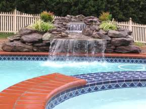 how to build a waterfall into a pool how to build a pool waterfall pool maintenance